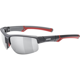 UVEX Sportstyle 226 Glasses, grey red/litemirror silver